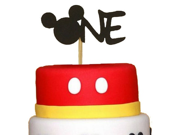 Mickey Mouse Birthday Cake Topper Any Age First Birthday