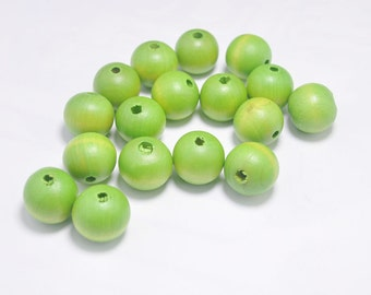 20PCS light green Wooden Beads,20mm Round Wood ball beads,DIY necklace beads.barcelet beads.wood craft,Make jewellery for selling