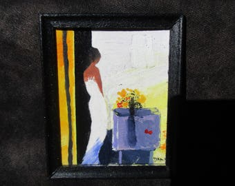 miniature painting. dollhouse accessories