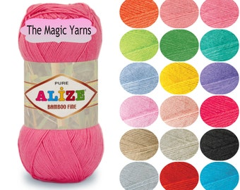 ALIZE BAMBOO FINE , 100% natural yarn, fingering weight, fine, 3-4ply, 16wpi, smooth, soft, pleasant to the touch, with a slight sheen yarn.
