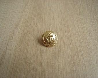 officer gold anchor button
