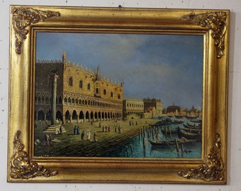 Venice painted with frame
