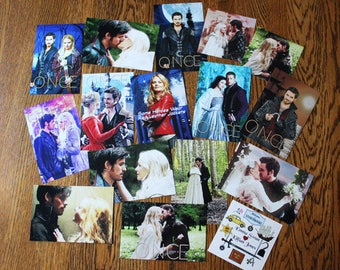 Once Upon a Time and Captain Swan Mini Glossy Photo Prints Lot 2