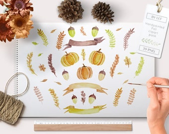Fall clipart, fall graphics, autumn graphics, fall watercolor clipart, autumn watercolour graphics, autumn clipart, pumpkin clipart
