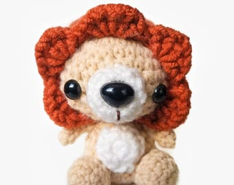 Happy Friendly Amigurumi Crochet Plush Lion Animal