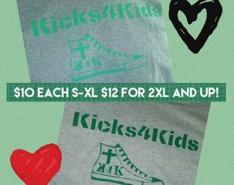 Kicks4Kids Tshirts profits to benefit charity