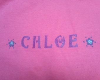 Girls Custom Name T-shirt (Glow-in-the-dark)