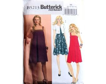 Sun Dress, Jacket, One Shoulder Dress, Pattern, Butterick 5213, UNCUT, Size 8, Size 10, Size 12, Size 14