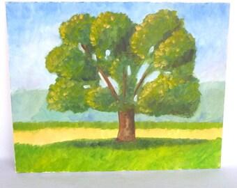 Original IMPRESSIONISTIC TREE PAINTING