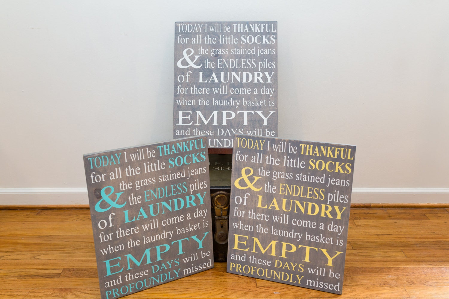 Wooden Laundry Sign Inspiration Custom Laundry Sign Today I Will Be Thankful For Decorating Inspiration