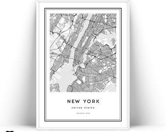 new york map print new york city map wall art prints printable map of new york new york poster new york wall art new york manhattan art