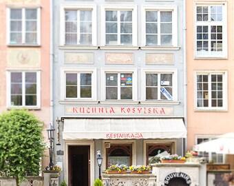 Gdansk Poland Photography, Kitchen Art, Europe, Street Photography, Travel, Housewarming, Wanderlust, Pastel, Architecture, Art Print, Gift