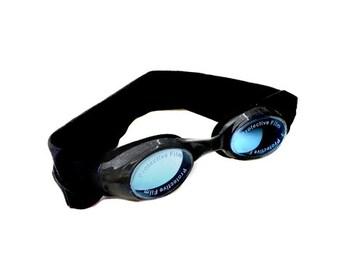 Black Kids and Adults Splash Swim Goggles