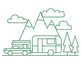 Camping Cut File .SVG .DXF .PNG
