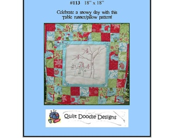 Snow Day Packaged Pattern from Quilt Doodle Designs