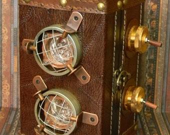 "Captivating Original Steampunk ""Auto-Lantern"" Flashlight - Bright Fully Functional Handmade Custom Neo-Victorian Design"
