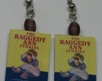 Raggedy Ann Mini Book Earrings E89