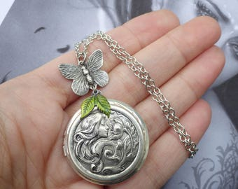 lockets small necklace monarch butterfly martha silver products jackson sterling