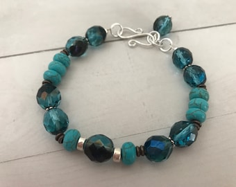 ISA Bracelet en turquoise et chocolat