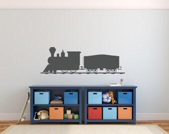 Train Wall Decal - Nursery Decor Bedroom Wall Train Decal Nursery Decal Thomas the Train Decor Train Birthday Party Decor