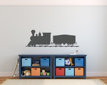 Train Wall Decal   Nursery Decor Bedroom Wall Train Decal Nursery Decal  Thomas The Train Decor