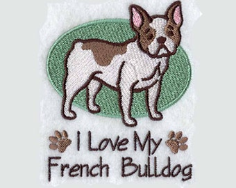 French Bulldog Tea Towel | Embroidered Towel | Embroidered Tea Towel | Personalized Kitchen | Embroidered Kitchen Towel | Dog Lover Gift