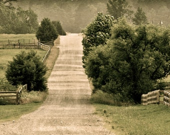 Landscape Photography - The Road To Possum Trot Church II - Travel, Nature, Farm, School, Southern, Georgia, Fine Art Photography