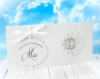First Communion Invitation, #26, FAST SHIPPING, Printed Invitations, 1s Holy Communion