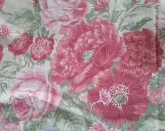 Handmade Twin Size Duvet - Beautiful Large Scale Pink Floral Print