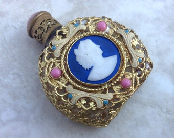 Antique Austrian Perfume Bottle Ormulu Style Jewelry