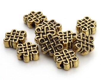 Pearl knot of eternity, Pearl Jewelry Tibetan 11x9mm