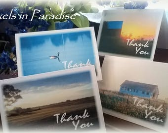 Thank You cards/ Photography Note card/ Sunrise Note cards/ Nature Thank You cards/ Photo cards/ 4 x 5 inch cards/  Blank Note cards