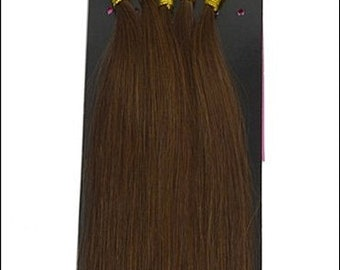 Medium Brown U Tip Nail Tip Fusion Tips Remy Human Hair Hot Fusion Extensions 17 inch length USA Made Utip Fusions