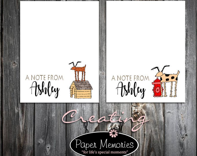 Dog Lovers Notepad Set Personalized Stationery Set- 2 Notepads - Makes a great gift -