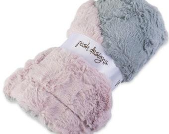 Ultra-furry  plush Baby receiving Blanket