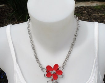 Necklace - red Orchid Necklace