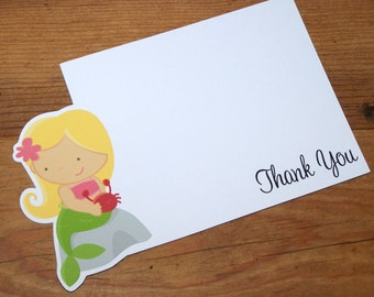 Mermaid Party - Set of 8 Mermaid III Thank You Cards by The Birthday House