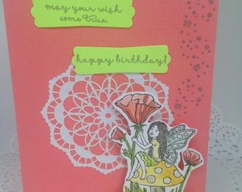 Handmade Birthday Card Fairy
