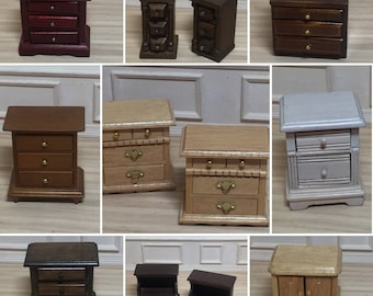 1:12 Scale Miniature Dollhouse Nightstand/Side Table/End Table (each sold separately)
