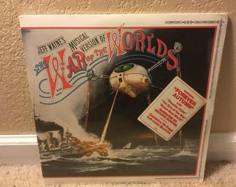 Sealed Jeff Wayne's The War Of The Worlds LP Gatefold With Hype Sticker 35290 Booklet