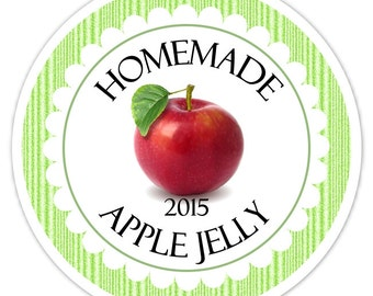 Custom Canning Labels, Made For You Stickers, Jam Stickers, Jelly Labels, Jam Labels, Personalized Labels, From The Kitchen Stickers