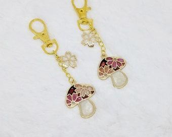 Sakura Matsuri Mushroom Keychains- 2 Styles