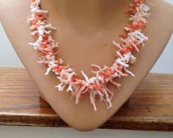 """Coral 20"""" Necklace with Pretty Catch.   FREE U.S. SHIPPING"""