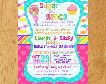 Sugar spice invite Etsy