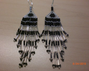 "Black & Silver or White 3"" Chandelier"