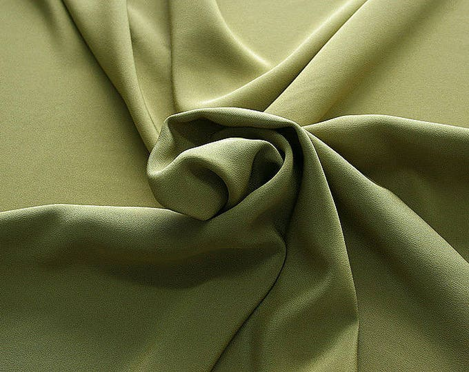 305090-Crepe marocaine Natural Silk 100%, width 130/140 cm, made in Italy, dry cleaning, weight 215 gr