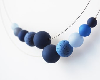 blue necklace statement polaris necklace
