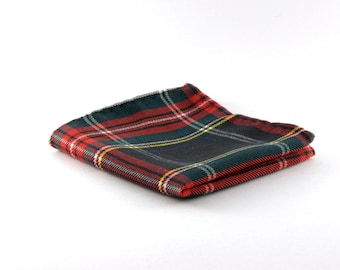 Pocket square, scots style , tartan, gift for valentine day and birthday, gift for him, father's day gift, original pocket squares