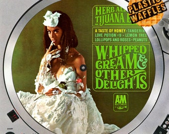 "Herb Alpert & The Tijuana Brass Whipped Cream Slipmat Turntable 12"" LP Record Player, DJ Audiophile"