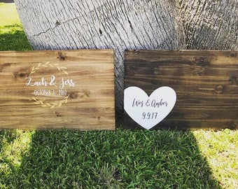 Rustic Wedding Guest Book Sign | Guest Book Alternative | Country Wedding Gift